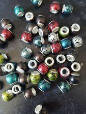 European Beads x 54 mixed colours