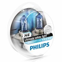 PHILIPS H4 Diamond Vision 12V P43t-38 Bombillas Faros 5000K 12342DVS2 (Twin)