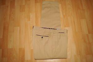 leichte  HILTL  Baumwoll   Bügelfalten Hose  Gr. 52  Peaker  beige