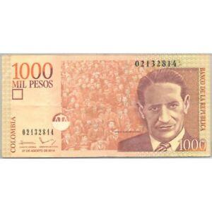 COLOMBIE 1000 PESOS 27-08-2014 SUP