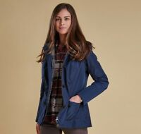 New Barbour Oldany Jacket Navy Waterproof Breathable Size US 4 10 MSRP $349