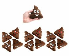 (12) Plush Poop Emoji Plush Party Favors Classroom Prize