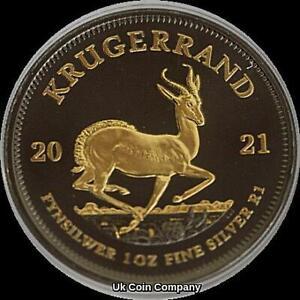 2021 South Africa Krugerrand 1 oz Silver Gold Black Ruthenium Coin