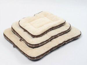 Dog Bed Fleece Cosy Mattress Soft Non Slip Washable Warm Plush Mat Small Comfy