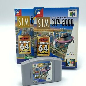 N64 Sim City 2000 Japanese Version Boxed Nintendo 64 ref010421