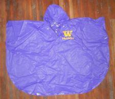 wholesale dealer d030a 3e018 Vtg 90s WASHINGTON HUSKIES UW Football COLLEGE RAIN PONCHO Jacket Coat ONE  SIZE