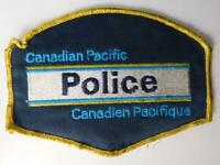 CANADIAN PACIFIC RAILROAD  OFFICER POLICE VINTAGE UNIFORM PATCH BADGE TRAIN