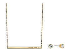 Michael Kors Gift Set Mkj4677 Stud Earrings Necklace Rose Gold Mkj4677791
