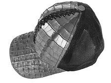 BASEBALL HAT ALLIGATOR(%100 GENUINE SKIN)PREMUIM,BACK FISHNET,SNAPBACK,GRAY#444