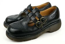Dr. Martens 8065 England Black Double Strap Grunge Mary Janes Womens 9 US (7 UK)
