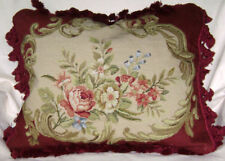 Gorgeous Needlepoint Woolen Decorative Cushion Cover
