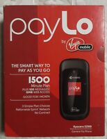 Kyocera Luno S2100 - Black ( Tello / Virgin Mobile ) Cellular Flip Phone