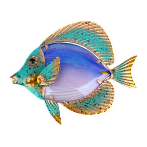 Liffy Home Decor Metal Fish Artwork for Garden Decoration Outdoor