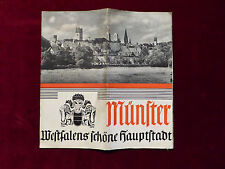 Travel Folding Brochure from Münster, Westphalia beautiful capital, from 1936