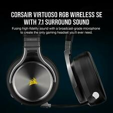 CORSAIR - VIRTUOSO RGB SE Wireless 7.1 Surround Sound Gaming Over-the-Ear Hea...