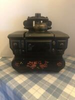 Vintage McCoy Pottery Black Cook Stove Cookie Jar