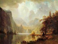 Canvas Art Poster Print In the Mountains Albert Bierstadt Home Decoration 8x10