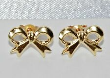 "Beautiful 9ct Yellow Gold ""Art Deco Style Bow"" Stud Earrings"