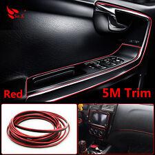CHROME 5M FLEXIBLE TRIM FOR CAR INTERIOR EXTERIOR MOULDING DECORATIVE STRIPE RED