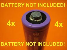 4x BATTERY SPACER TAB MAGNETS Convert Flat Tops to Button Tops Batteries Adapter