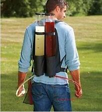 New Backpack Dual Dispenser Beer Drink Liquid Shot Pump Gun PUB Beer Kit