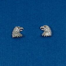 925 Sterling Silver Eagle Post Earrings - Bald Eagle Bird Stud Earrings NEW