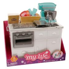 "My Life 18"" Doll Kitchen Island Baking Set Mixer Fits American Girl Grace Thomas"