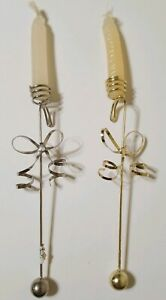 Dept. 56 Christmas Tree Candle Hangers X15 10 Silver 5 Gold With Candles