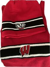 Top Of The World Knit Hat And Scarf Wisconsin Badgers 100% Acrylic Great Gift
