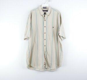 Vintage 90s Chaps Ralph Lauren Boy Scout Tag Mens Large Striped Button Shirt