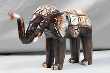 "Elefant ""Bumbo"" - bemaltes Albesia Holz - Elefanten Skulptur 24 cm. (3) /207"