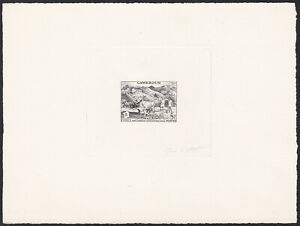 Cameroon Sc326 FIDES, Cow, Plowman, Agriculture, Signed Die Proof