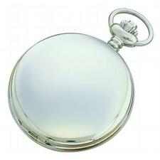 Charles-Hubert- Paris Stainless Steel Quartz Hunter Case Pocket Watch #3551