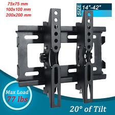Slim LCD LED Plasma Tilt TV Wall Mount Bracket 19 20 22 23 24 26 27 32 37 40 42