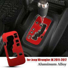 Red Gear Shift Panel Cover Trim For 11-17 Jeep Wrangler JK Interior Accessories