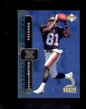 1999 Upper Deck TERANCE MATHIS Atlanta Falcons Super Bowl XXXIII Card