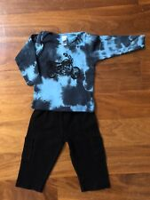 Set American Apparel Baby Boys Outfit Tie Dye Motorcycle Top  Pants 0-3 Months
