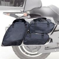 Schwarz 4x Satteltaschen Koffer Auskleidung für Street Glide Road King Touring
