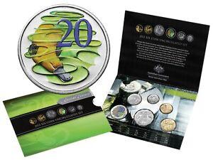 """2013 Uncirculated Australian Mint Set: """"Hyper Metallic 20 Cent Coin."""""""