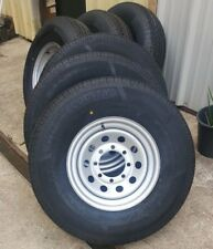 4) 235/85/16 14 Ply Trailer Tire Wheel St235/85R16 Tire and Rim Set 8x6.5 8 Lug