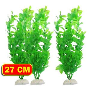 Aquarium Plastic Plant Tank Fish Decoration Artificial Green Plants Ornament New