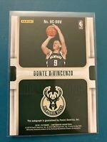 2018-19 Panini Contenders Donte DiVincenzo Silver Up And Coming Auto 064/199