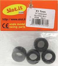 SLOT IT SIPT16 FORMULA 1 SILICONE TIRES 4 PER PACKAGE NEW 1/32 SLOT CAR PART