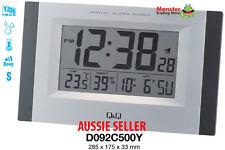 AUSSIE SELER CITIZEN MADE ALARM & WALL CLOCK SNOOZE TEMPERATURE LIGHT D092C500