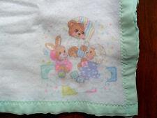 "Riegel Fisher Price TEDDY BEDDY BEAR Baby BLANKET by Riegel in USA 36""x45"""