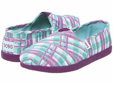 NEW SKECHERS BOBS GLIM GLAM SHOES GIRLS 5 WOMENS 7 PURPLE/BLUE LOAFERS SLIP ONS