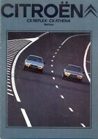 CITROEN CX Reflex & Athena 1980/81 Swiss Market Sales Brochure