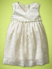 BABY GAP GIRLS SILVER POLKA DOT GARDEN PARTY DRESS ORG. $44.50 SZ 12-18 MOS BNWT