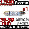6 LED 239 272 38mm 39mm XENO BIANCO TARGA INTERNO LAMPADINA A SILURO UK