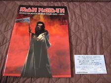 Iron Maiden 2004 Japan Tour Program Book with A Ticket Arch Enemy Sonata Arctica